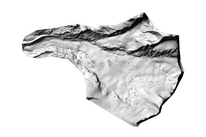 3D-Map - Digitales Geländemodell Findelgletscher